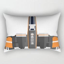 Black-Orange X-Wing Rectangular Pillow