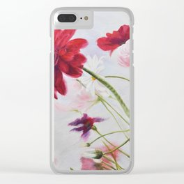 Wildflowers against the sky_Oil on canvas Clear iPhone Case