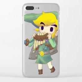 Plain Link Fan Art Clear iPhone Case