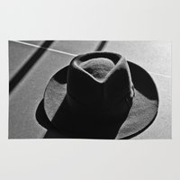 hat Area & Throw Rugs featuring Hat by Fernando Derkoski