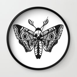 Death Moth Wall Clock
