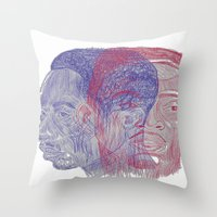 tupac Throw Pillows featuring You Got the Juice Now, Kid by Dazed N Amused