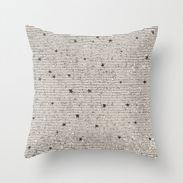 Sideral Heavens - Black Throw Pillow