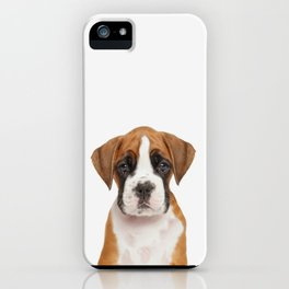 German Boxer Puppy iPhone Case