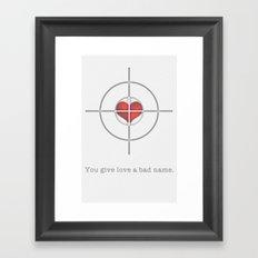 Shot Through The Heart Framed Art Print
