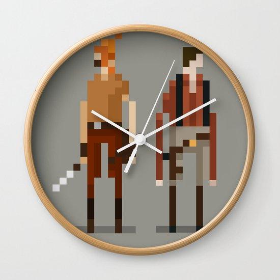 Brains and Brawn Wall Clock