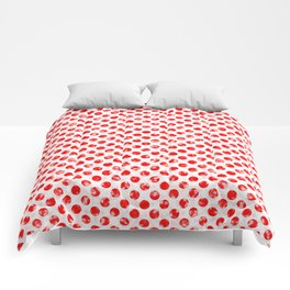 Polka Dot Red and Pink Blotchy Pattern Comforters