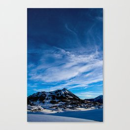 Wispy Clouds Above Crested Butte, Colorado. Canvas Print