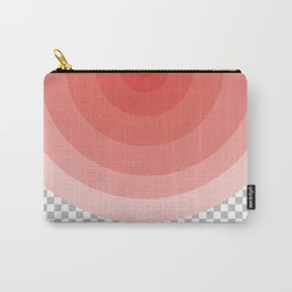 Modern pink half circles on pixel grid Carry-All Pouch