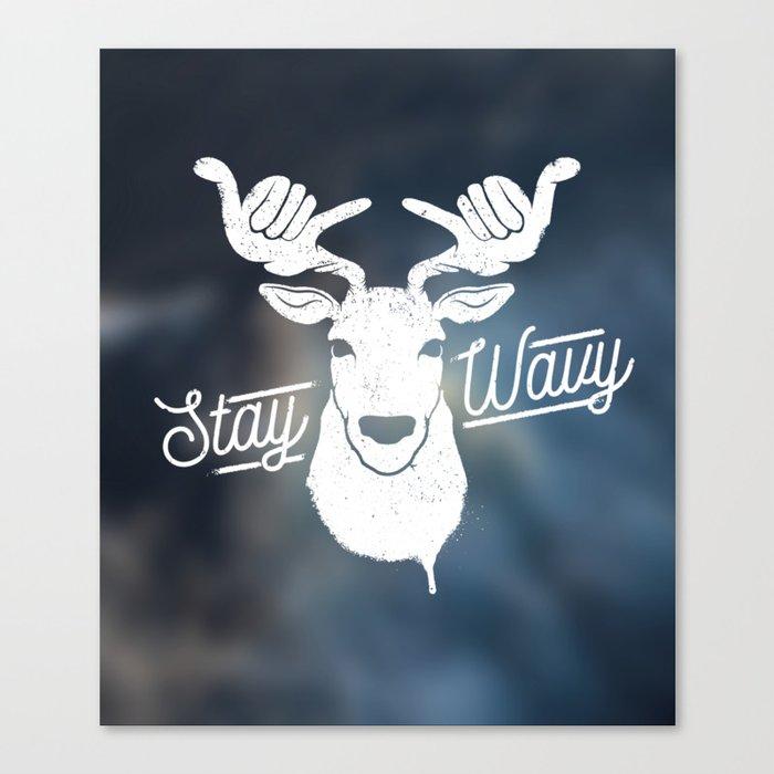 Stay Wavy Oceanic Canvas Print