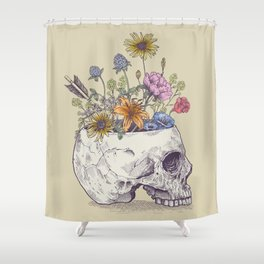 Skull of flowers Shower Curtain