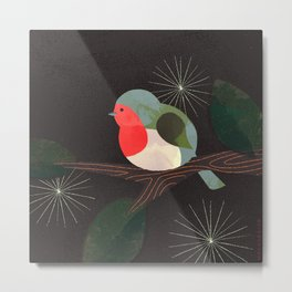 Holiday Robin Metal Print