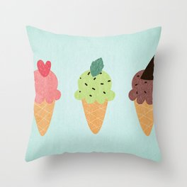 Ice Cream Fantasy Throw Pillow