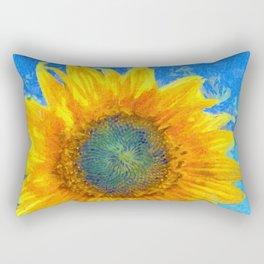 Happy Sunflower Rectangular Pillow