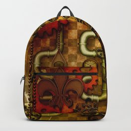 Noble Steampunk design, clocks and gears Backpack