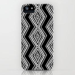 diamondback in black & white iPhone Case