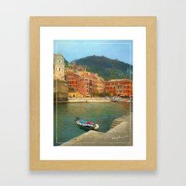 Calm Vernazza Framed Art Print