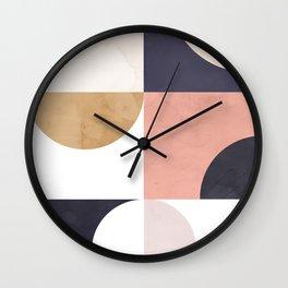 Geometric Moontime 1 Wall Clock