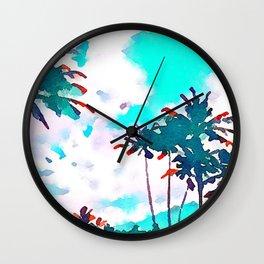 Lanikai Coconut Trees Wall Clock