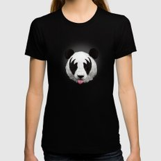 Kiss of a panda Black LARGE Womens Fitted Tee
