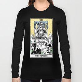 Geometric Tarot Print - The Chariot Long Sleeve T-shirt