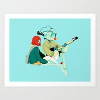 flcl Art Prints featuring flcl by Lindsay Pak