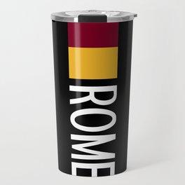Italy: Roman Flag & Rome Travel Mug