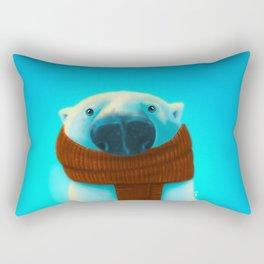 Polar bear with scarf Rectangular Pillow