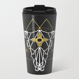 Cow Skull Zia Metal Travel Mug