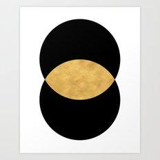 VESICA PISCES CIRCLE ABSTRACT GEOMETRIC SYMBOL Art Print