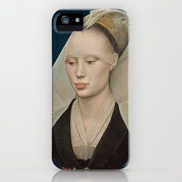 Portrait of a Lady by Rogier van der Weyden iPhone Case