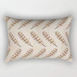 barred owl feather pattern Rectangular Pillow