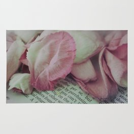 Rose Petals on Page Rug