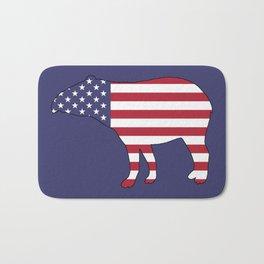 """Tapir """"American Flag"""" Bath Mat"""