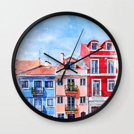 Lisbon, Portugal - Neighborhood Wall Clock