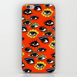 60s Eye Pattern iPhone Skin