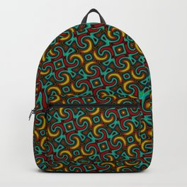 Gold Red Green Tessellation Pattern  Backpack