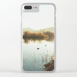 Autumn Lake Tranquility Clear iPhone Case