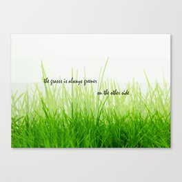 The grass is always greener on the other side Canvas Print
