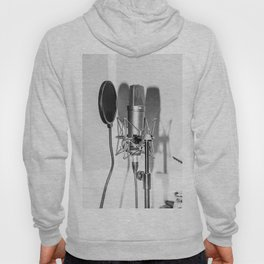 Microphone black and white Hoody