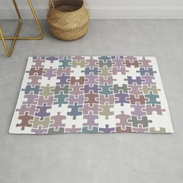 Shades of Gray puzzle Rug