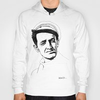 springsteen Hoodies featuring Woody Guthrie by Paul Nelson-Esch Art