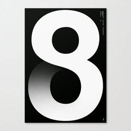Nº8. Helvetica Posters by empatía® Canvas Print