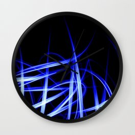 Abstract Blue Light Effect Wall Clock