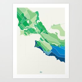 Seattle Colored Art Print