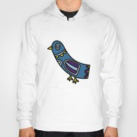 pigeon Hoodies featuring pigeon by Rose Lee