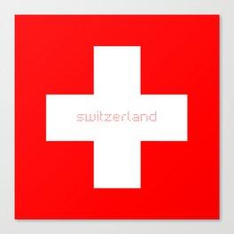 Swiss Cross - Swiss Flag Canvas Print