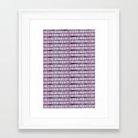 buildings Framed Art Prints featuring buildings by Mariana Beldi