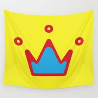 crown Wall Tapestries featuring CROWN by ^NHRK
