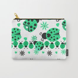 Cute Ladybugs green Carry-All Pouch